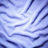 Синяя предпосылка текстуры ткани Стоковое Изображение RF