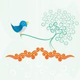 синяя птица Стоковое Изображение RF