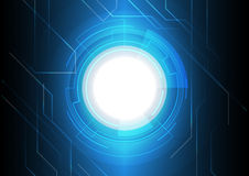 Синяя электронная предпосылка технологии Стоковое фото RF