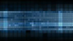 Синяя pixelated анимация видео мозаики квадратов