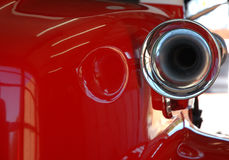 сирена красного цвета пожара двигателя Стоковая Фотография RF