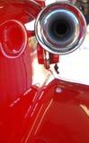 сирена красного цвета пожара двигателя стоковые фотографии rf