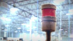 Сирена фабрики сток-видео