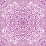 Сирень вектора индийская флористическая и пурпурная мандала иллюстрация вектора