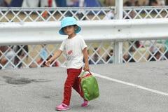 Сирийский ребенок беженца в Сербии Стоковые Фотографии RF