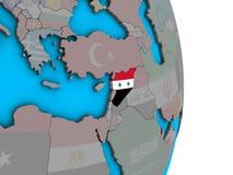 Сирия с флагом на глобусе 3D бесплатная иллюстрация