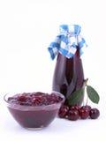 сироп варенья вишни стоковое изображение