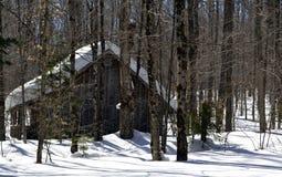 Сироп клена лачуги сахара Вермонта Стоковое Фото