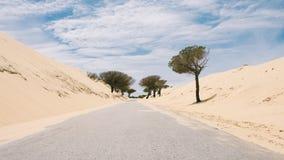 Сиротливая дорога в Кадис стоковые изображения rf
