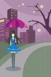 Сиротливая милая девушка 2 (vecter) Стоковая Фотография RF
