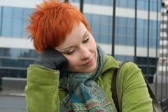 сиротливая унылая женщина Стоковая Фотография RF