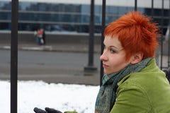 сиротливая унылая женщина Стоковое Изображение RF