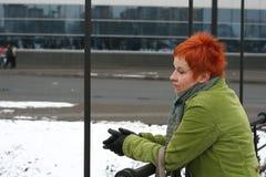 сиротливая унылая женщина Стоковая Фотография