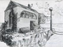 Сиротливая дом Стоковые Изображения RF