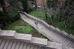 Сиротливые лестницы в городке стоковые фото