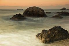 сиротливый корабль моря Стоковые Фотографии RF