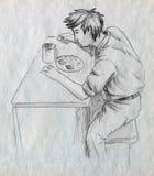 Сиротливый обедающий Стоковая Фотография