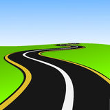 сиротливый путь Стоковые Изображения RF