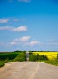 Сиротливая дорога сельской местности Стоковая Фотография RF
