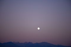 сиротливая луна Стоковые Фотографии RF