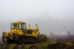 Сиротливое traktor стоковая фотография rf