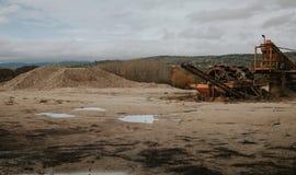 Сиротливый завод гравия Стоковые Изображения