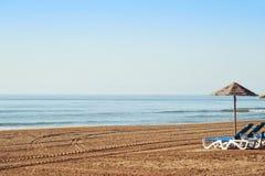 Сиротливый пляж в Средиземном море Стоковые Фото