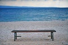 Сиротливый стенд на морском побережье Стоковое Фото