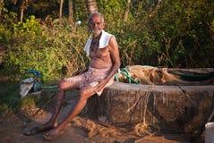 Сиротливый человек Индия Стоковое Изображение
