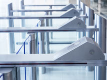Система безопасности доступа въездных ворота Стоковое фото RF