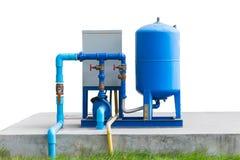 Система водяной помпы на конкретном поле Стоковые Фотографии RF