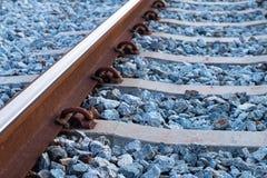 Система железных дорог для тепловозной платформы поезда Стоковое Изображение RF