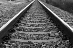 Система железных дорог для тепловозной платформы поезда Стоковые Изображения RF