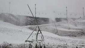 Система искусственного Snowmaking сток-видео