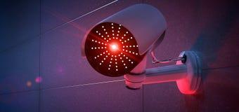 Система камеры CCTV безопасностью - перевод 3d Стоковое фото RF