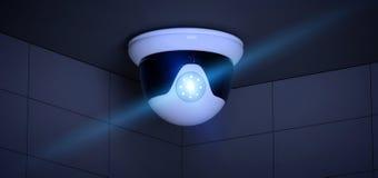 Система камеры CCTV безопасностью - перевод 3d Стоковые Изображения