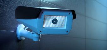 Система камеры CCTV безопасностью - перевод 3d Стоковые Фотографии RF