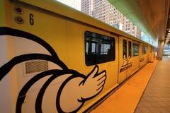 Система общественного местного транспорта движенца людей Детройта Мичигана Стоковое Изображение