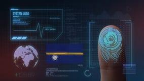 Система опознавания отпечатка пальцев биометрическая просматривая Национальность Науру стоковые фотографии rf