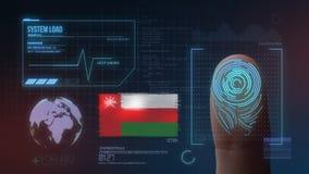 Система опознавания отпечатка пальцев биометрическая просматривая Национальность Омана стоковые фотографии rf