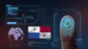Система опознавания отпечатка пальцев биометрическая просматривая Национальность Панамы стоковые фото