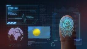 Система опознавания отпечатка пальцев биометрическая просматривая Национальность Палау стоковые фотографии rf