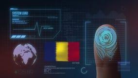 Система опознавания отпечатка пальцев биометрическая просматривая Национальность Румынии стоковые изображения