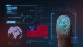 Система опознавания отпечатка пальцев биометрическая просматривая Национальность Самоа стоковые изображения