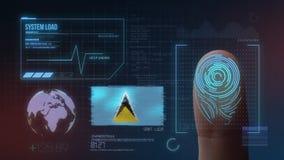 Система опознавания отпечатка пальцев биометрическая просматривая Национальность Сент-Люсия стоковые изображения rf