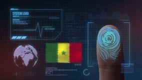 Система опознавания отпечатка пальцев биометрическая просматривая Национальность Сенегала стоковые изображения rf