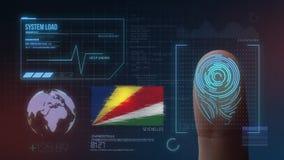 Система опознавания отпечатка пальцев биометрическая просматривая Национальность Сейшельских островов стоковое фото rf