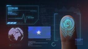 Система опознавания отпечатка пальцев биометрическая просматривая Национальность Сомали стоковая фотография rf