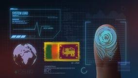 Система опознавания отпечатка пальцев биометрическая просматривая Национальность Шри-Ланка стоковые фото