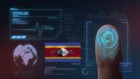 Система опознавания отпечатка пальцев биометрическая просматривая Национальность Свазиленда стоковое изображение